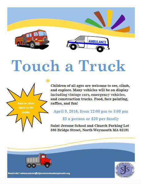 Saint Jermone's School Touch a Truck 2016 in Weymouth MA
