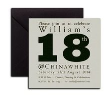 18th birthday invite from Heritage Stationary