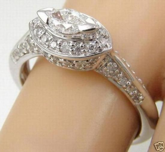 marquise diamond engagement rings east west - Google Search
