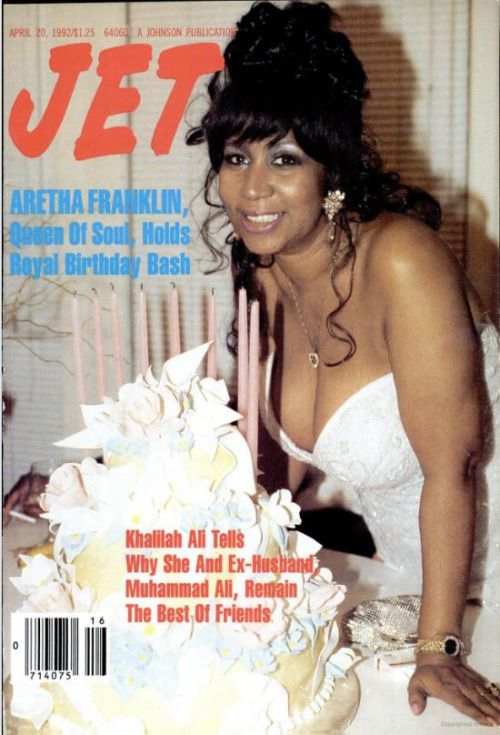 """""""Aretha Franklin on the cover of JET magazine, April 20, 1992  """""""