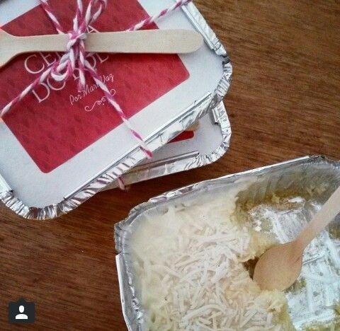 Bolo gelado de coco na marmita