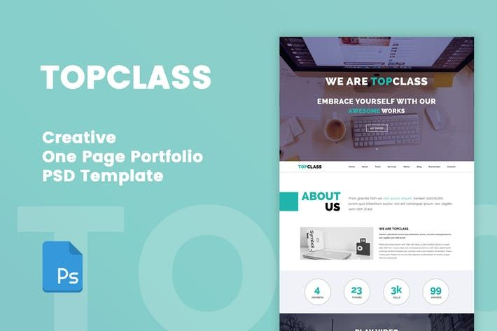TOPCLASS  One Page Creative PSD Template #graphics #resume Download : http://1.envato.market/c/97450/298927/4662?u=https://elements.envato.com/topclass-one-page-creative-psd-template-LGALBW