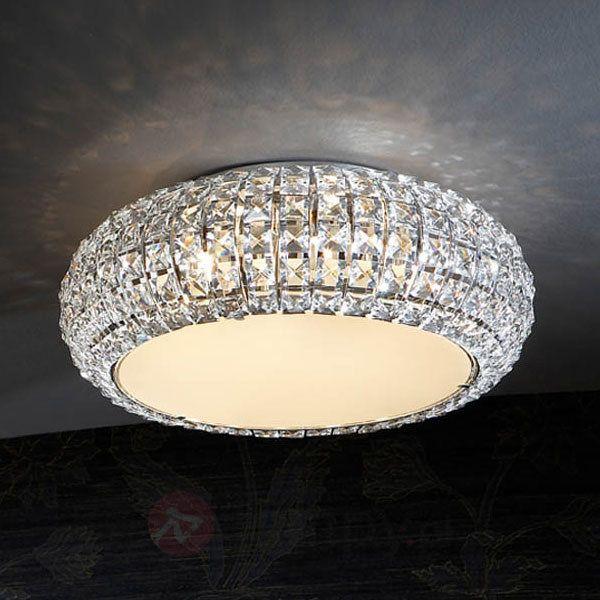 Mieniąca się lampa sufitowa DIAMOND, okrągła 40 cm 8582122