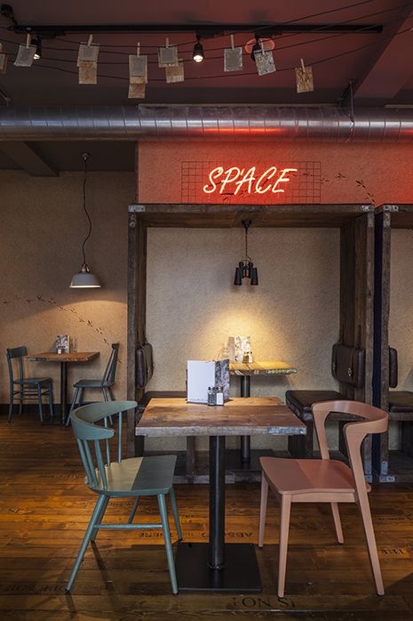 absurd bird spitalfields restaurant interior design by designlsm photography c james - Beaded Inset Restaurant Interior