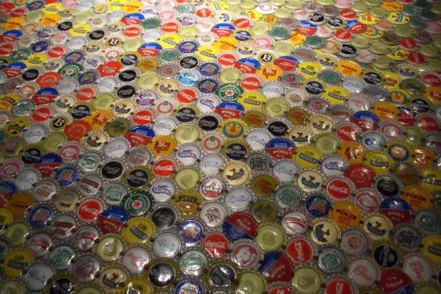 Bottle cap counter @La Plaza de Andrés