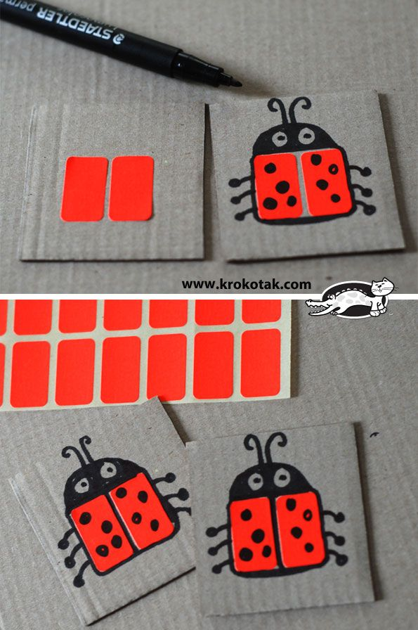 DIY memory game - easy and inexpensive idea that kids can do themselves