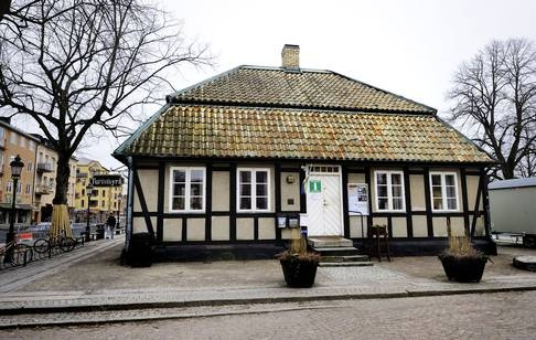 The former town hall in Ängelholm