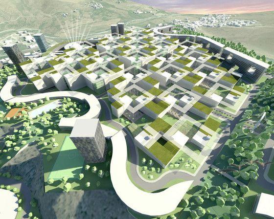 Zrównoważone osiedle-miasto w Algierii - zwycięski projekt konkursowy - Zrównoważone osiedle-miasto w Algierii