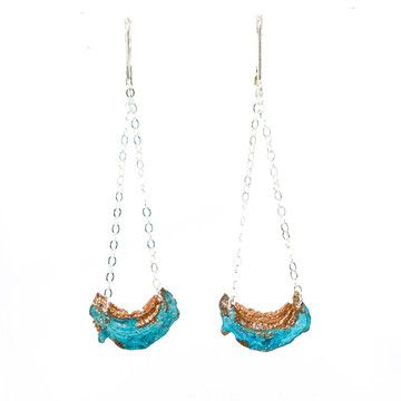 Blue Moon Earrings, $49, now featured on Fab.