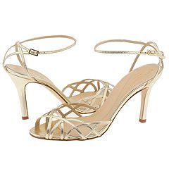 gold strappy bridesmaid heels