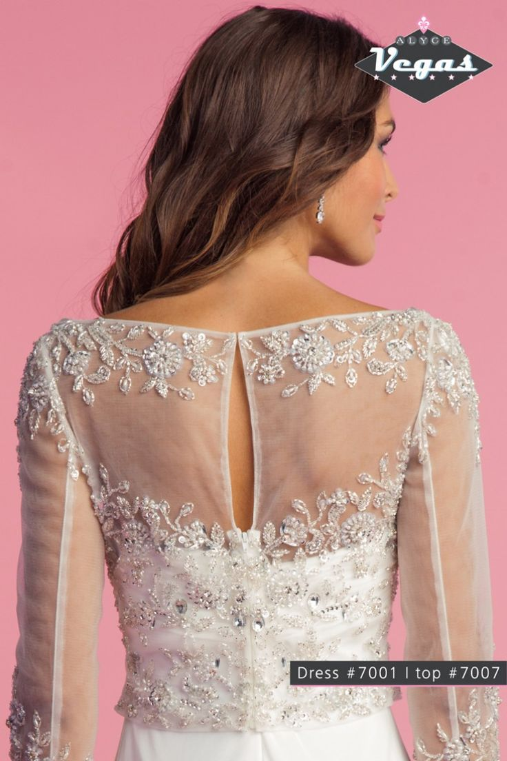 Style * 7007 * » Bridal Tops » Vegas Fall 2014 Collection » by Claudine for Alyce Paris » Available Colours : Ivory, White ~ Also available to Mix & Match with any of the Vegas Destination Wedding Dresses (back)