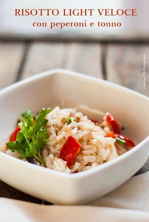 un risotto veloce con peperoni e tonno ,cottura in pentola a pressione