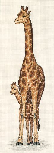 Dimensions Needlecrafts Counted Cross Stitch, Giraffe Mother & Baby
