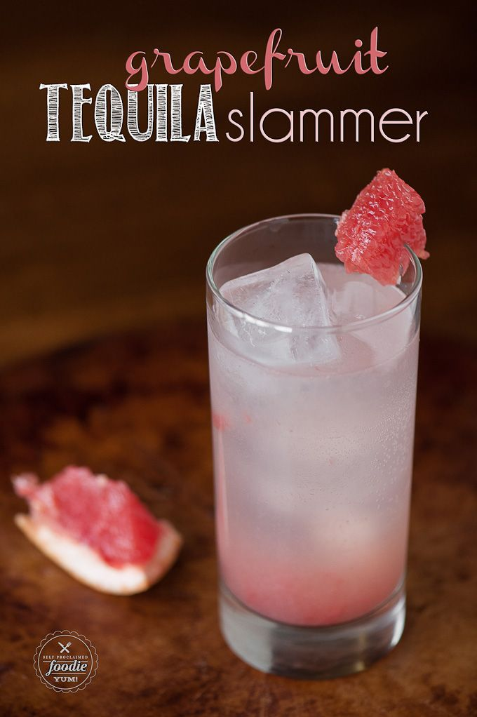Make a quick and easy cocktail with one of winter's best fruits and enjoy a refreshing Grapefruit Tequila Slammer. {Self Proclaimed Foodi