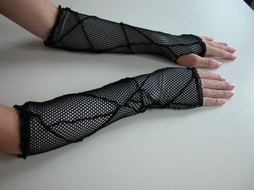 Gloves fishnet with white van Paulien Berkelaar - Bizzare - Be azz you are, Be Bizzare