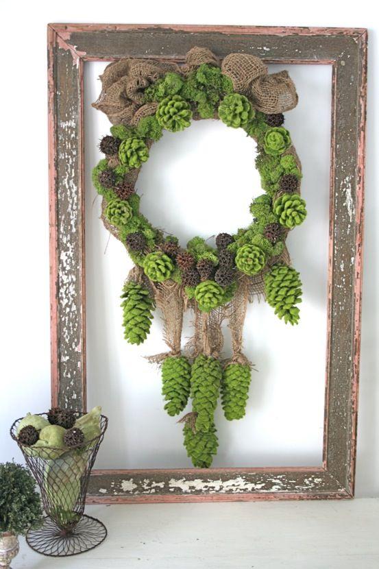 Green Pinecone Wreath