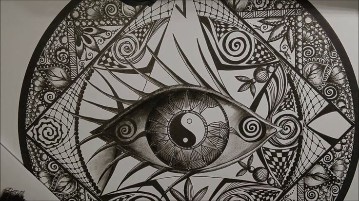 How to draw mandala (7) - Jak narysować mandalę (7) zentangle, doodling