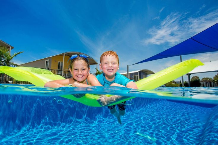 Cool down and make new friends in the swimming pool at BIG4 Deniliquin.
