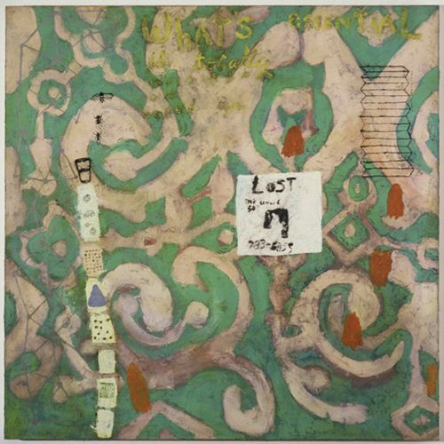 """Whats Essential...Squeak Carnwath ..1997...oil/alkyd on canvas...70x70"""""""