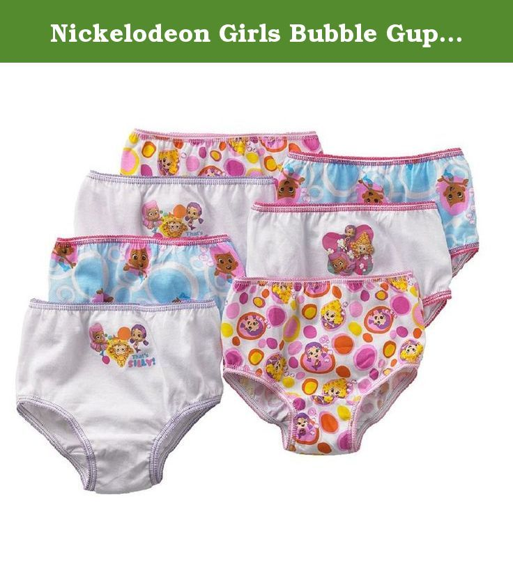 Nickelodeon Girls Bubble Guppies Underwear Panties 7pack (4T). BUBBLE GUPPIES girls' comfortable panties, 7 different unique designs!.
