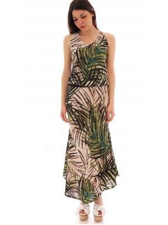 Lanacaprina - Floral pattern blouson midi dress