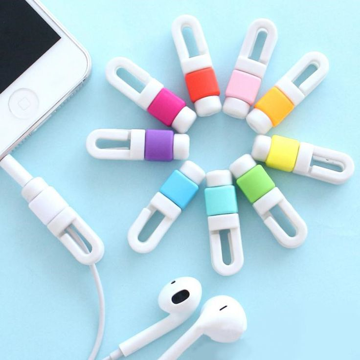 4 Pieces/Lot Mini phone accessory earphones protector cable winder cover for Iphone 5 6 6s 7 plus Headphones Cord