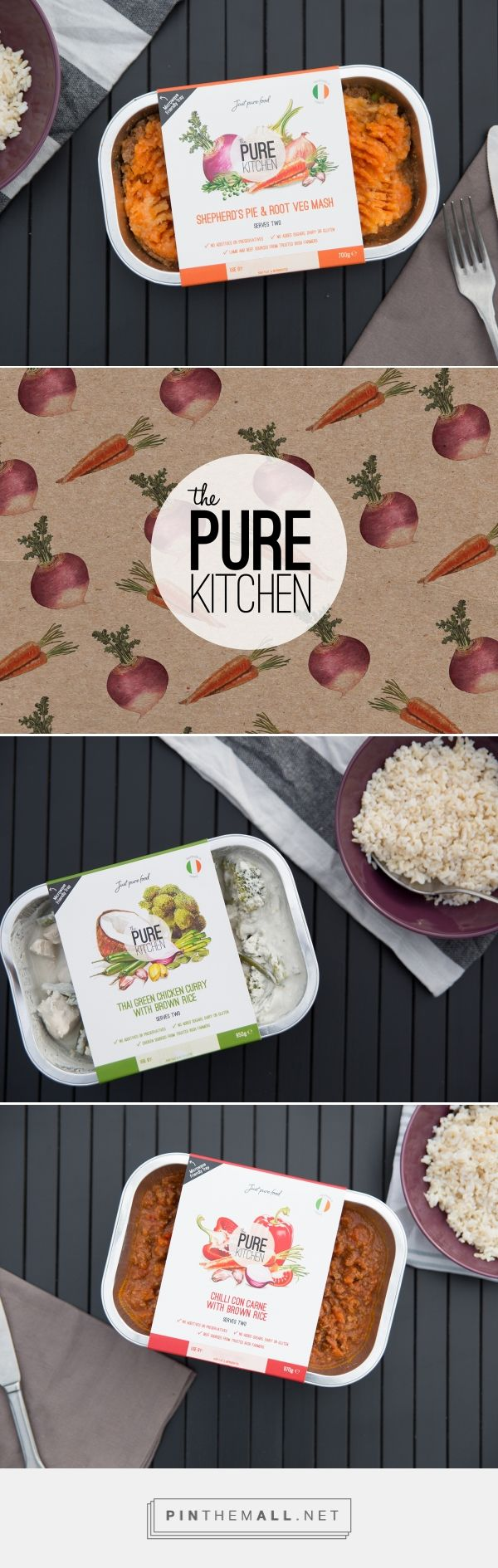 The Pure Kitchen healthy, tasty meals by Rowdy Studio. Source. Behance. Pin curated by #SFields99 #packaging #design #inspiration #ideas #branding #product #ready #meals #rowdystudio