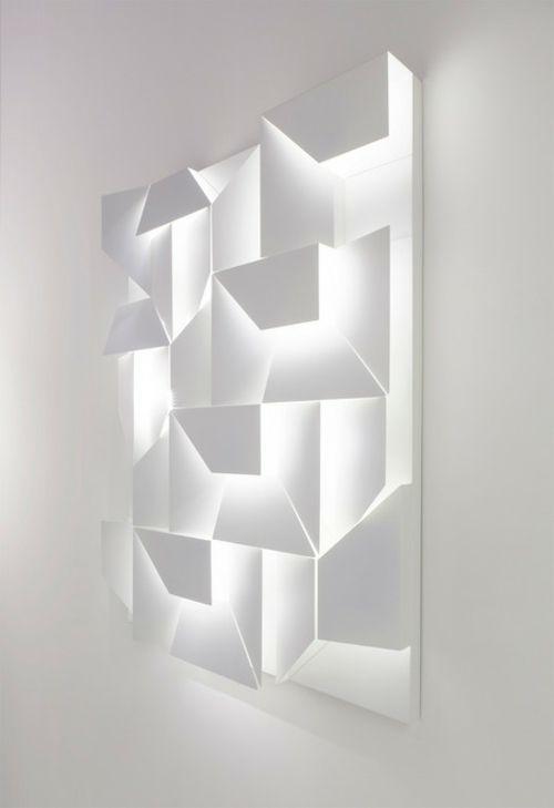 Schicke Wand LED Lampen mit 3D-Bedienungsfeld von Charles Kalpakian
