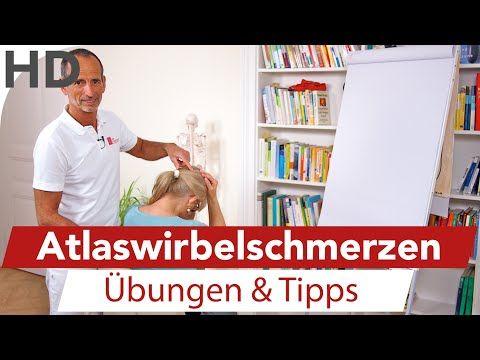 Atlaswirbel Schmerzen Übungen // Wirbelsäule, Nackenschmerzen, Rückenschmerzen - YouTube