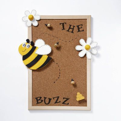 """""""The Buzz"""" Bulletin Board @Kelsey Mullen i remember seeing that you are going to have a bee themed classroom...and i thought this was super cute for news or announcements."""