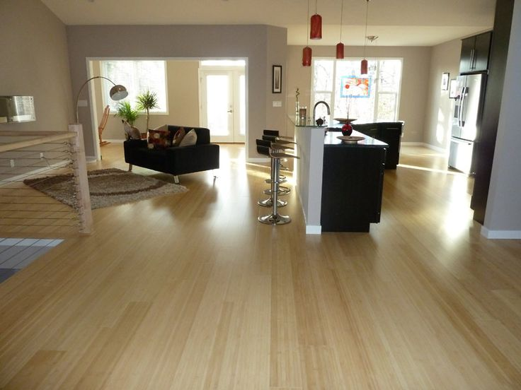 Natural Horizontal Organic Wide Plank Bamboo Floor