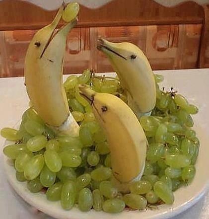 Dolphin fruit platter