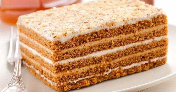 Vīramātes medus kūka - klasiskā, sen pārbaudītā, pati gardākā meduskūka.