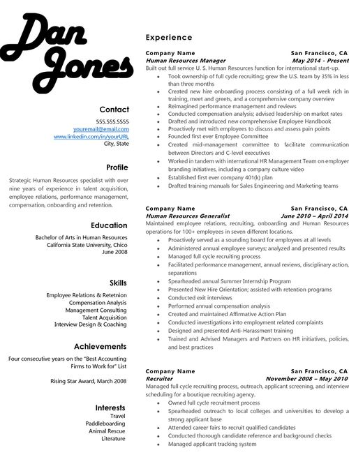 14 best Standout Resumes images on Pinterest | Resume templates ...