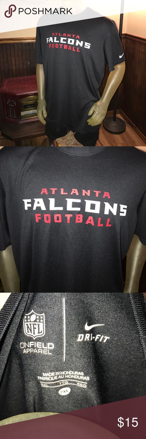 "NFL Nike Atlanta Falcons Football 🏈 Dri-Fit 2XL NFL Nike Atlanta Falcons Football 🏈 Dri-Fit 2XL 28"" Pit to Pit / 30.5"" Length Nike Shirts Tees - Short Sleeve"