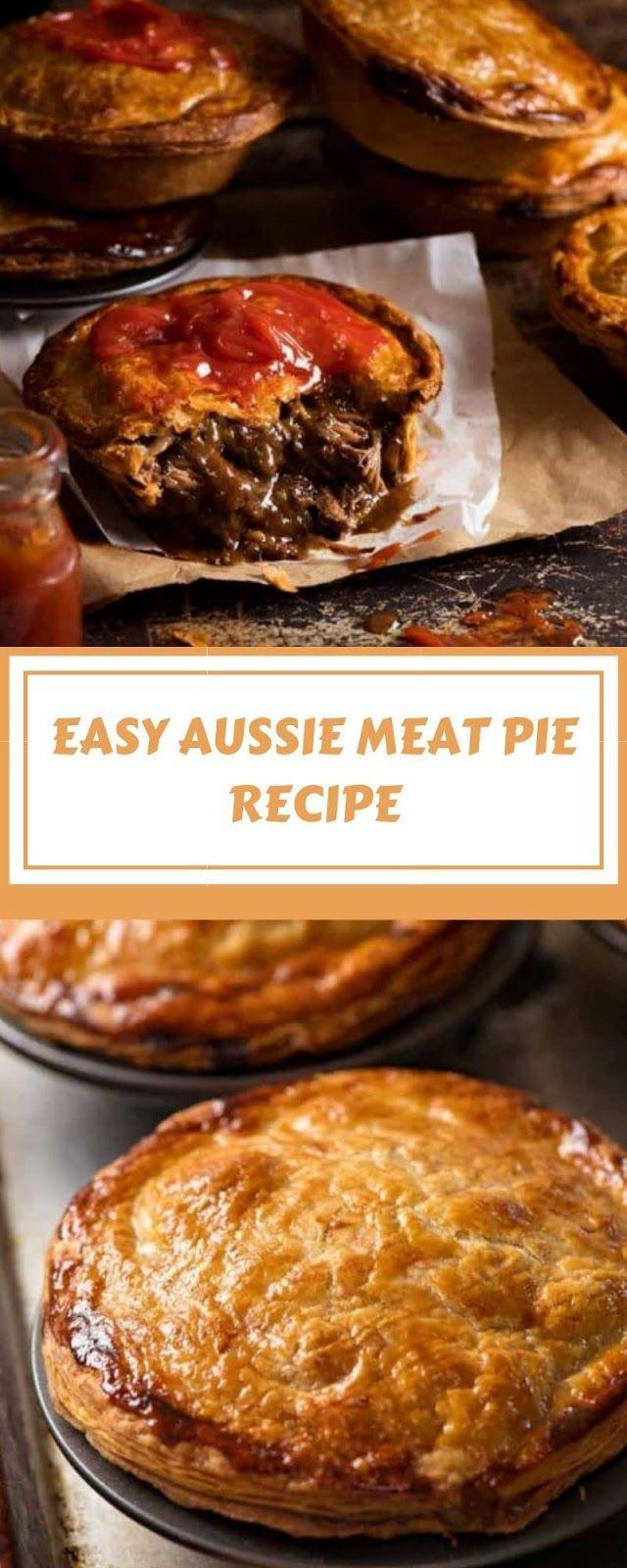 EASY AUSSIE MEAT PIE RECIPE in 2020 | Meat pie recipe ...