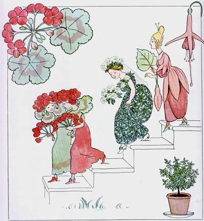 Geraniums - A Polar Bear's Tale: Elsa Beskow (1874-1953) - flowers