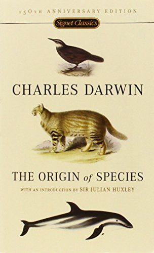 The Origin of Species: 150th Anniversary Edition by Charles Darwin http://smile.amazon.com/dp/0451529065/ref=cm_sw_r_pi_dp_pDM5vb0Z4EJK3