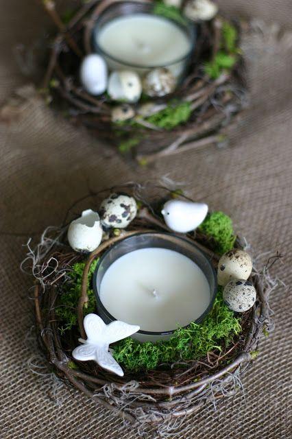 Flowers of Soul: Coronita si lumanare din ceara de soia