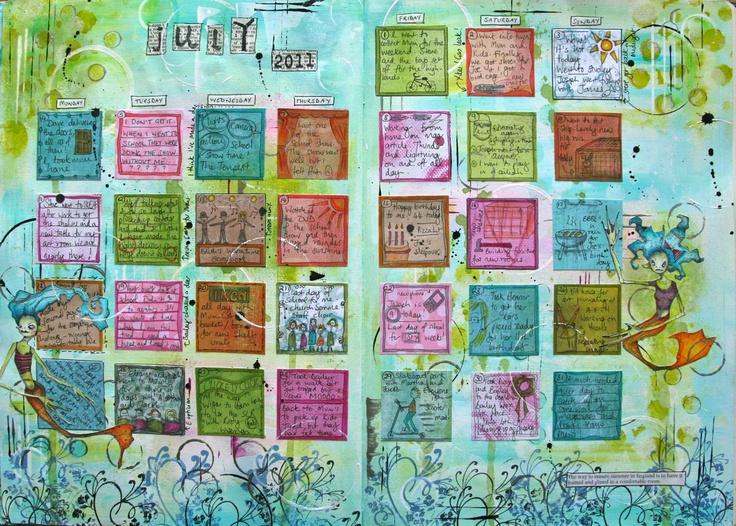 Art Journal Calendar Pages : Best journal it calendars planner ideas