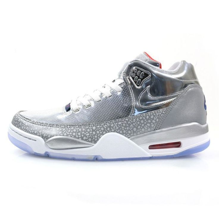 Nike Air Flight Squad QS Metallic Silver Mid Navy 679260-002 Basketball Shoes