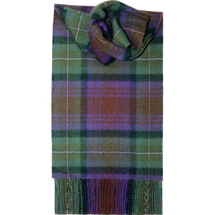 Tartan Schal aus gebürsteter Wolle