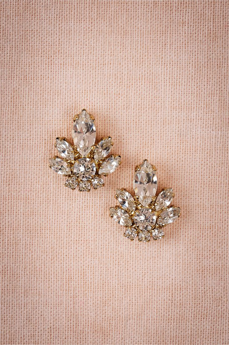 Harper Studs in  Gifts Something Sparkly at BHLDN Gorgeous Bridal Earrings