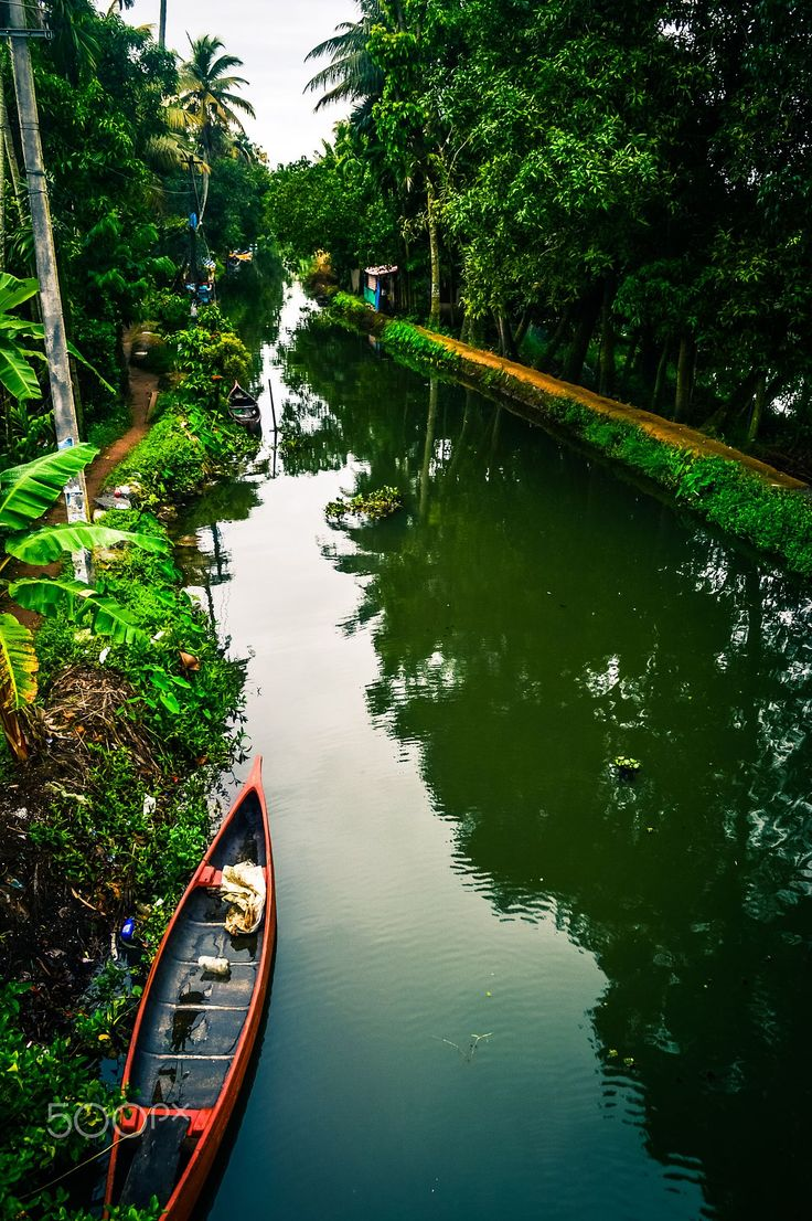 Alappuzha canals, Kerala, India