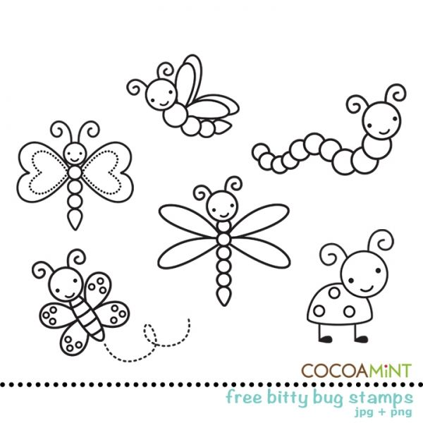 Free Bitty Bug Digital Stamps
