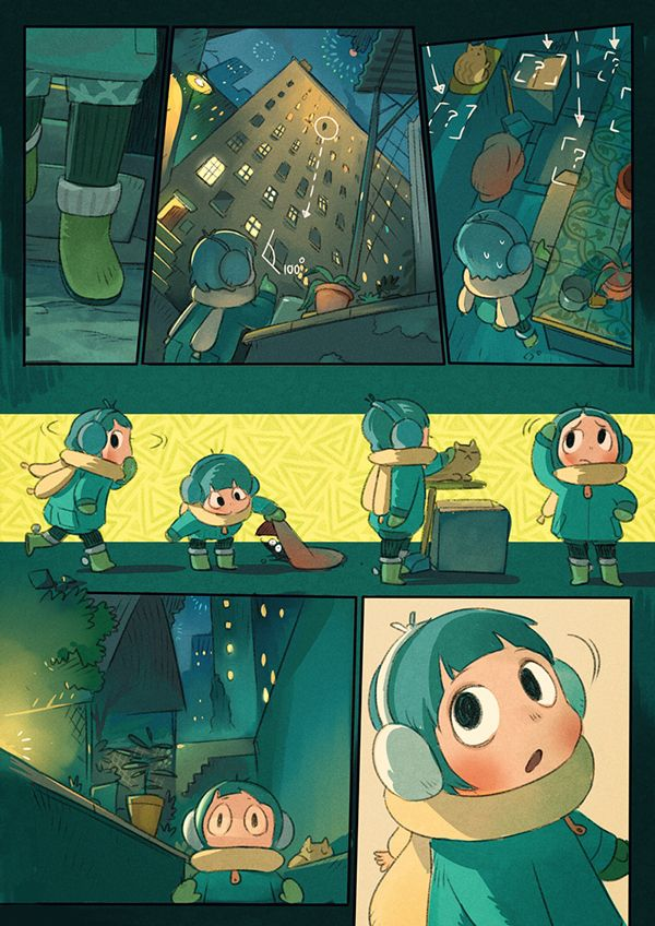 This short comic is about weeta and a little girl in the new year's night.