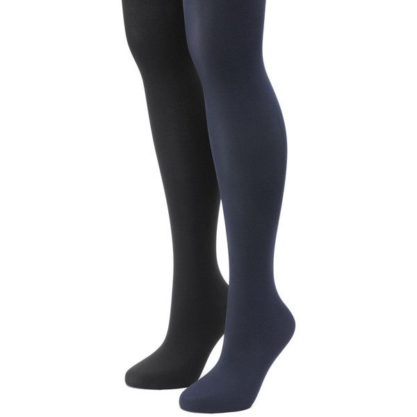 Women's Apt. 9® 2-pk. Solid Tights (270 UAH) ❤ liked on Polyvore featuring intimates, hosiery, tights, blue, blue stockings, apt. 9, blue pantyhose, apt 9 tights and blue tights