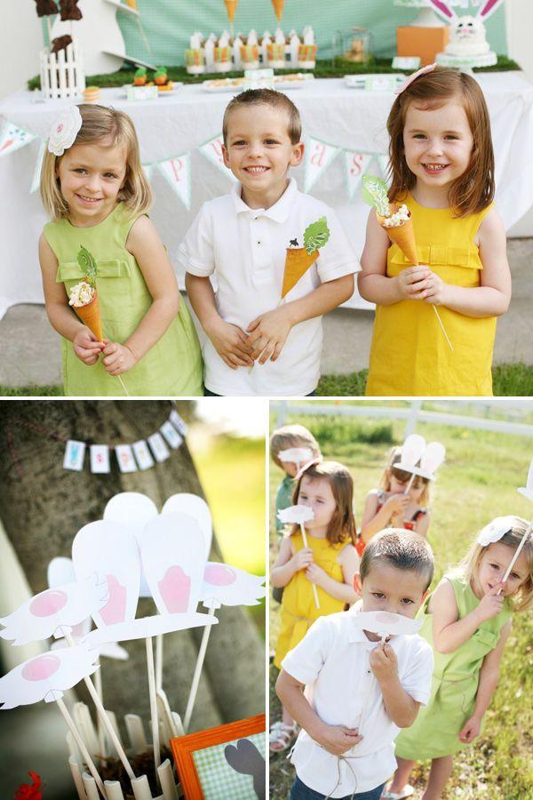 "Adorable Ideas for a Easter ""Bunny Hop"" Party: Bunnies Hop, Easter Parties, Kids Parties, Photos Booths Props, Easter Minis, Easter Bunnies, Photos Shoots, Easter Eggs, Photos Props"