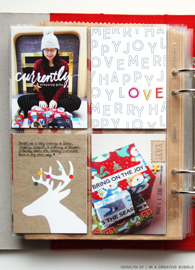 Really cute December Daily album - LOADS in inspiration here! In a Creative Bubble: December Daily 2014 // Part V