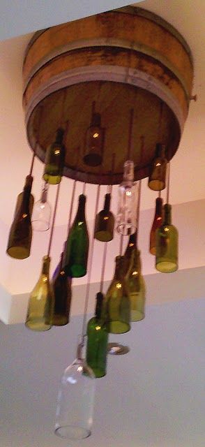 Spotted this cool chandelier made from a wine barrel and wine bottles while at lunch at Anthony's Fine Food & Wine in La Canada, CA.